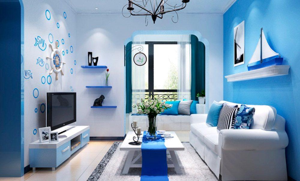Colores fr os para un ambiente sereno im genes y fotos - Como pintar un salon en dos colores ...