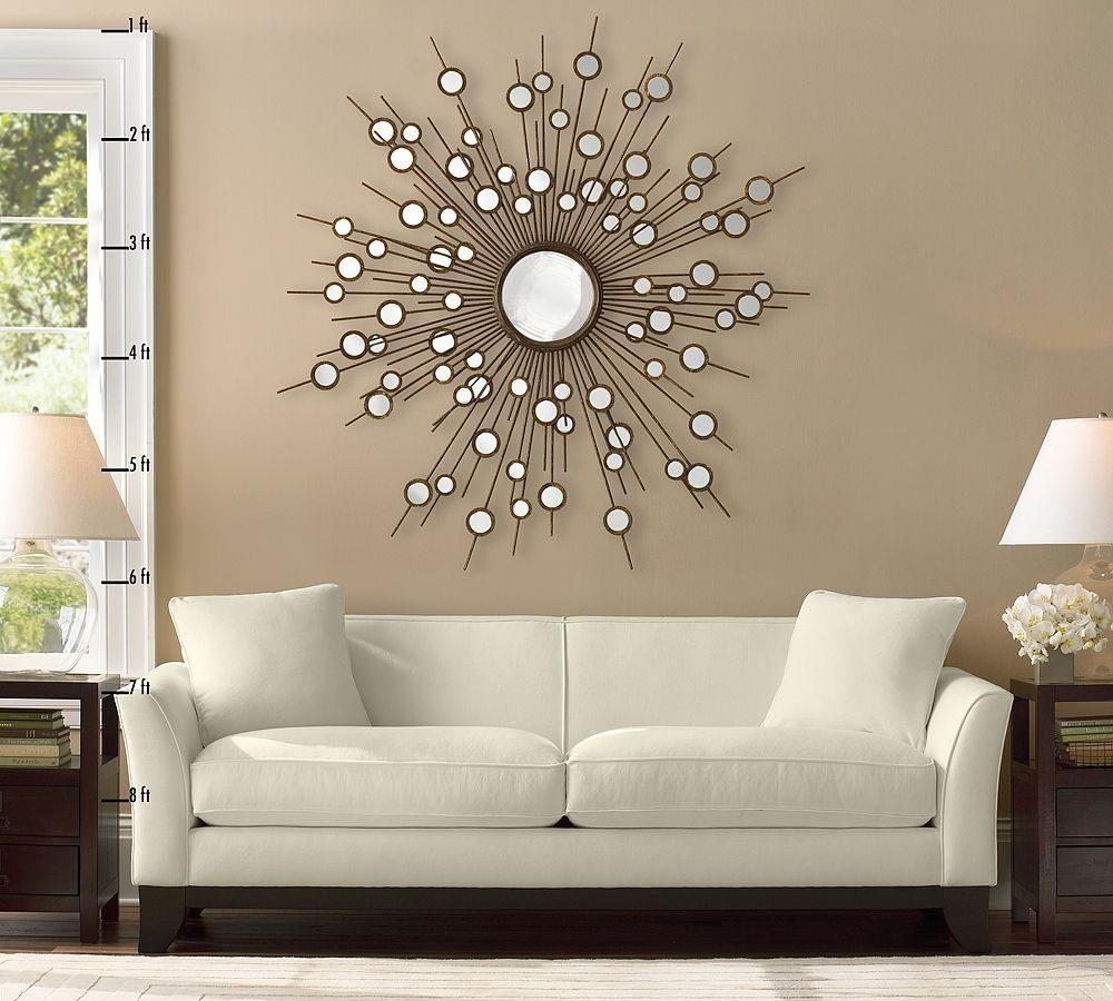 decoracin moderna con espejo de sol
