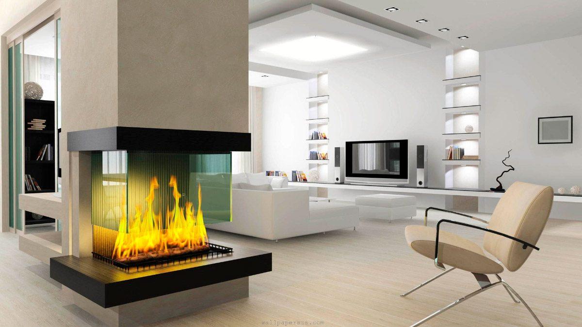 esttica de las chimeneas modernas - Chimeneas Para Salones