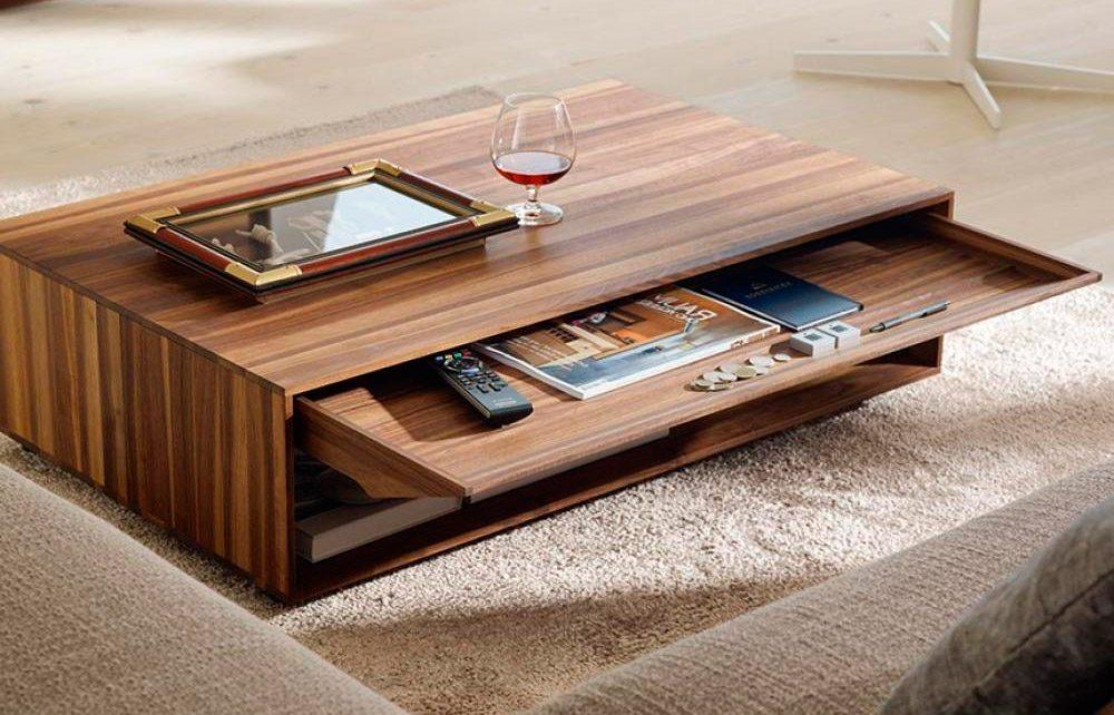 Mesa de centro de madera im genes y fotos for Designer couchtisch rechteckig
