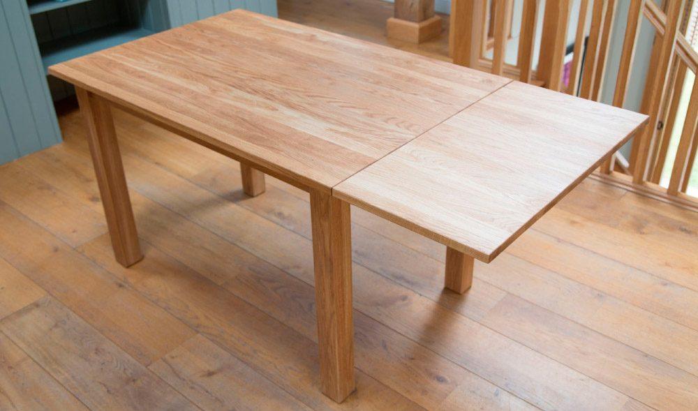 Mesas extensibles de madera im genes y fotos for Como hacer una mesa de madera para comedor