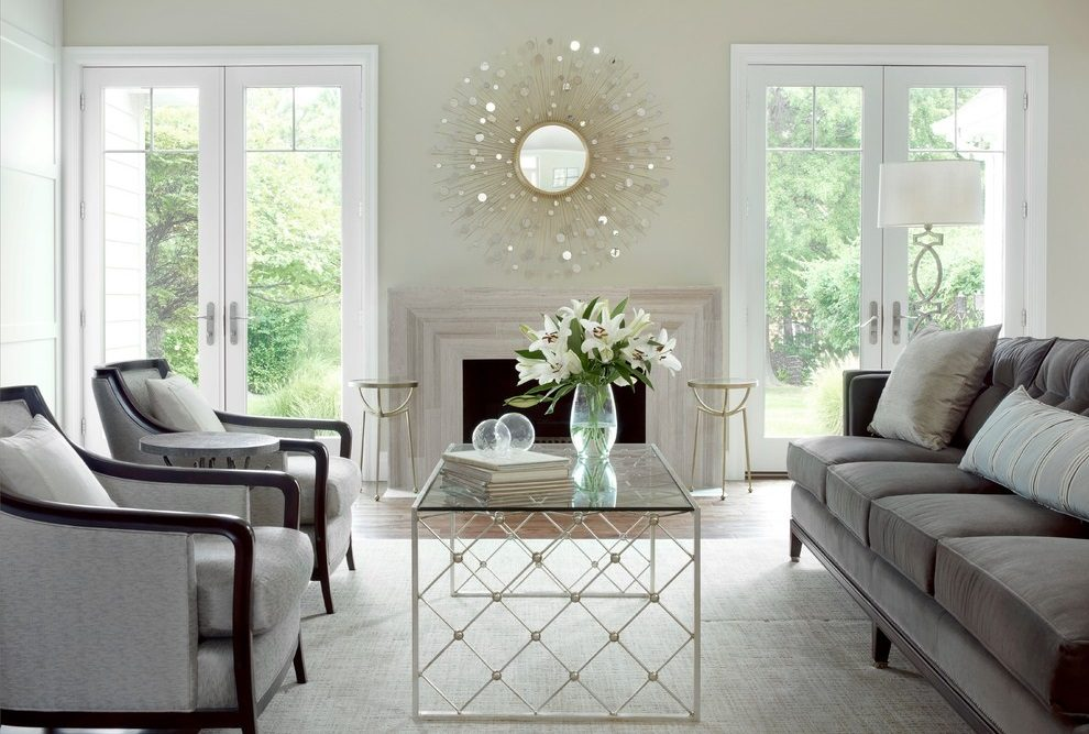 Ideas para salones con espejos for Espejos decorativos para chimeneas