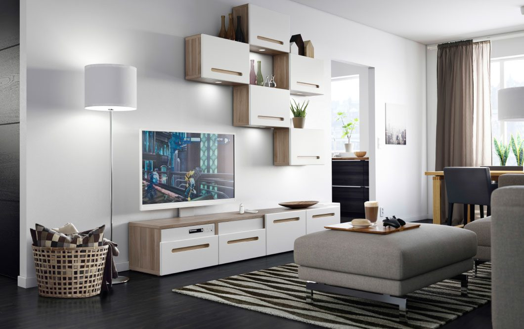Salones modernos ikea - Decoracion salon blanco ...