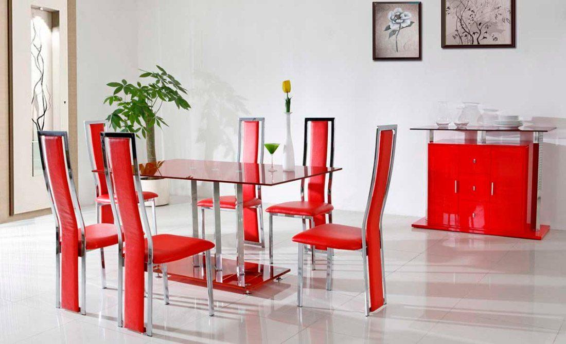 sillas rojas - Sillas De Salon Modernas