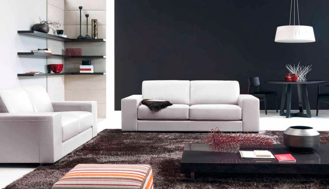Muebles modernos para el sal n - Decoracion paredes salones modernos ...