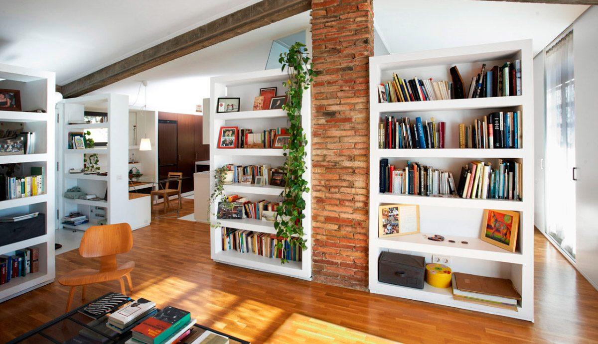 Zonas de almacenaje en el salón :: Imágenes y fotos