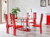 Sillas para el sal n for Sillas rojas modernas